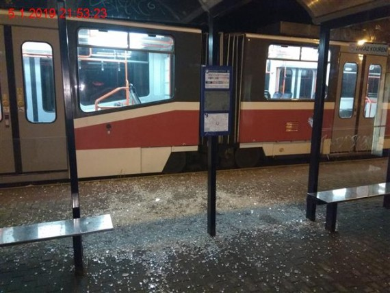 Rozkopaná zastávka Foto: MP Brno