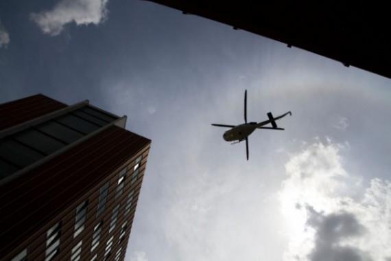 Do pátrání byl zapojen i vrtulník Foto: Centrum news