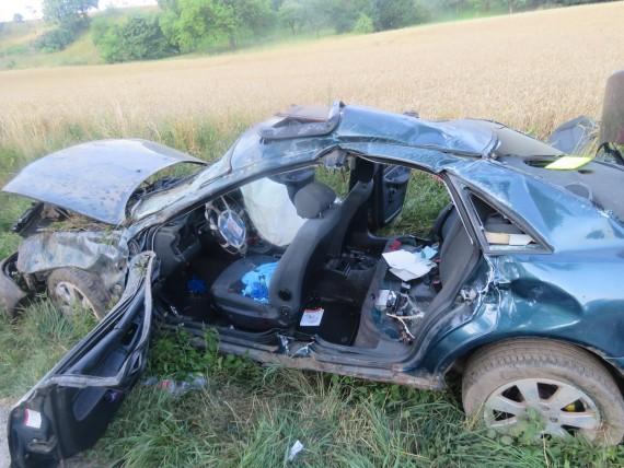 Foto z autonehody Foto: PČR JMK