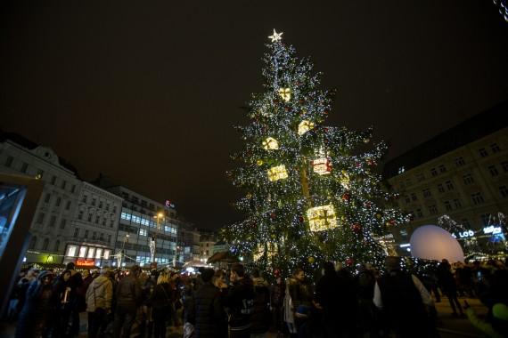V pátek se rozsvítí vánoční strom na náměstí Svobody Foto: Centrum news
