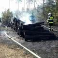 Požár lesa Foto: HZS JMK