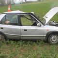 Havarované auto Foto: PČR JMK