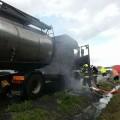 Kamion na dálnici hořel Foto: HZS JMK