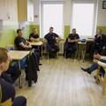 Ministr vnitra Hamáček s hasiči        Foto: hzs jmk