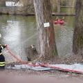 Zásah hasičů u řeky Svratky    Foto: hzs jmk