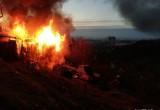 Požár chaty Foto: HZS JMK