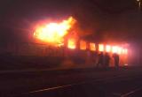 Hořící vlak Foto: HZS JMK