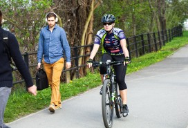Cyklista Foto: Centrum news/ Tomáš Varga