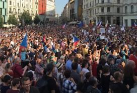 Demonstrace na náměstí Svobody Foto: Společně Brno/ Tadeáš Múdry
